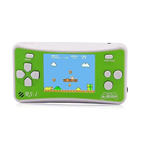 E-WOR Console portatile da gioco retrò a 8 bit Videogiochi LCD162x da 2,5 'Miglior regalo di Natale per bambini (verde)