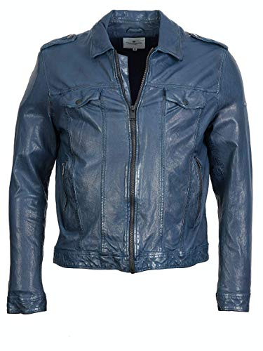 TOM TAILOR Biker-Lederjacke (Navy, M)