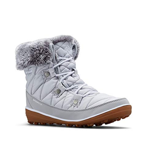Columbia Women's Heavenly Shorty Omni-Heat Snow Boot, Grey ice, White, 6.5 Regular US