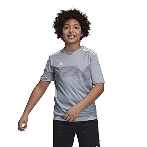 adidas Campeon 19 Jersey- Boy's Soccer L Light Grey/White