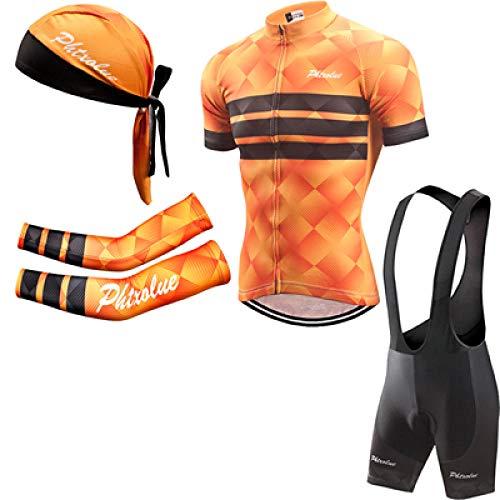 Sommer Fahrradanzug Herren Fahrradbekleidung Fahrradbekleidung Kurzarm Fahrradbekleidung Anzug-4 in 1_XL
