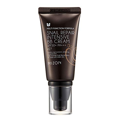 Mizon BB Cream Dark/Medium, Anti-Aging Face Moisturizer, Snail Repair Blemish Balm BB Cream Moisturizer (#27)