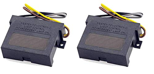 Westek Replacement Touch Lamp Control Module, 2 Pack – 3 Level Touch Dimmer Replacement Kit Works with Any Touch Lamp – Wire-In, Works with Incandescent and Halogen Bulbs Only – 6503HBLC