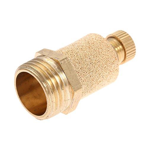 10pcs 1/2 Pneumatic Muffler Silencer Filter Air Flow Speed Controller Sintered Bronze NPT