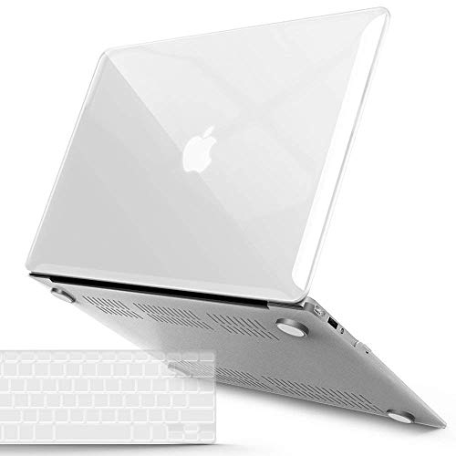 IBENZER MacBook Air 13 Inch Case A1466 A1369, Hard Shell Case with Keyboard Cover for Apple Mac Air 13 Old Version 2017 2016 2015 2014 2013 2012 2011 2010, Crystal Clear, A13CYCL+1