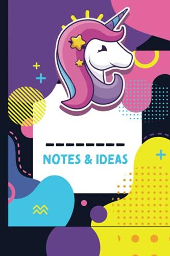 Bloc de notas y ideas de unicornio, 120 páginas, colección con cubierta...