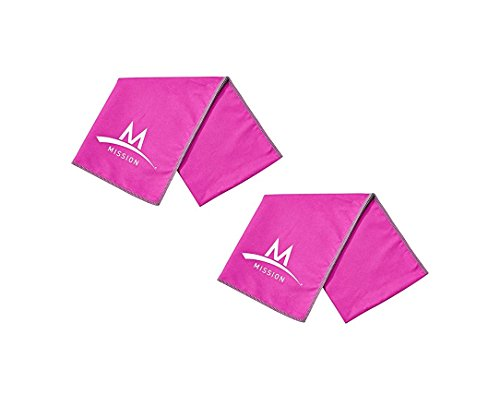Mission Enduracool Instant Cooling Towel Pro Series - Set of 2 (Pink)