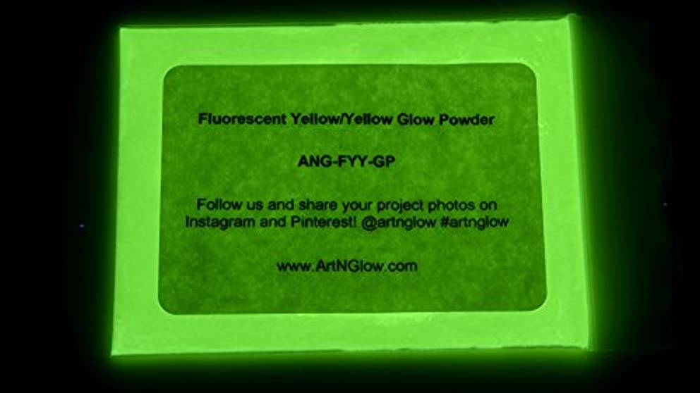Fluorescent Yellow Glow in The Dark Powder (30 Grams/1 Ounce)