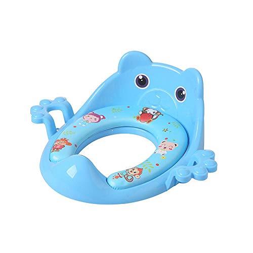 Practical Products Kid Toilettes Anneau Enfants Bébé Splash Guard pour Enfants en Bas âge pour 5 Mois à 8 Ans Blue-41 * 38 * 14 cm