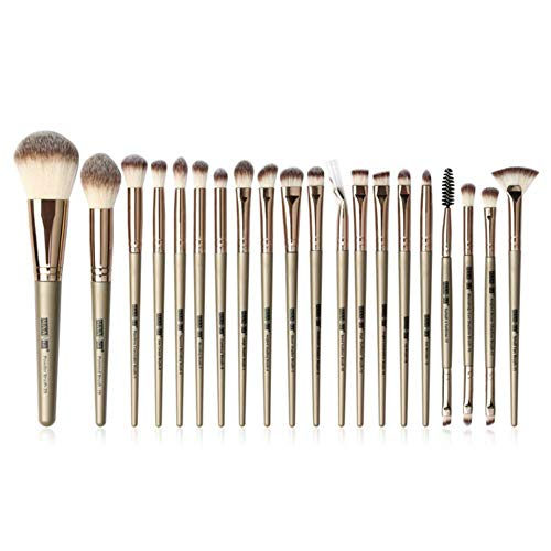 Make-up kwasten set professioneel met Natural Hair Foundation poeder Oogschaduw Make-up kwast Blush 6st-20st, 20st Brons