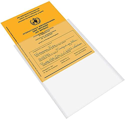 LItie Impfpass Hülle für Impfausweis Impfbuch -93 x 130 mm - transparent - Impfpasshülle Klarsichthülle Schutzhülle
