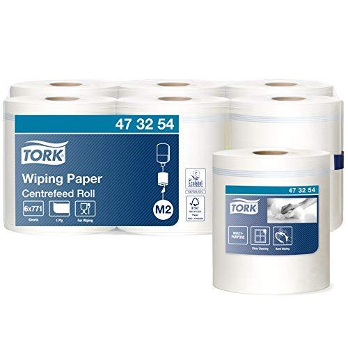 Tork 473254 Papel de secado Universal de 1 capa compatible con el sistema de alimentación central grande M2, 6 rollos (6 x 270m), Blanco