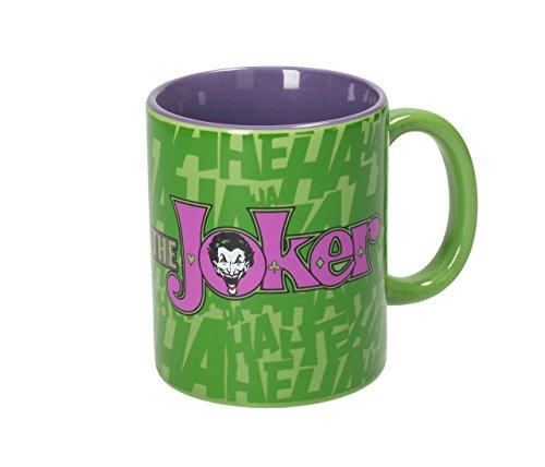 SD Toys beker met motief The Joker Logo, keramiek, groen en paars, 10 x 14 x 12 cm
