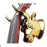 IDWOI Soporte Guitarra Suelo, Abdominales Soporte de Gancho con Forma de Cabeza de Toro Montado en la Pared para Guitarra Acústica Eléctrica Percha de Ukelele