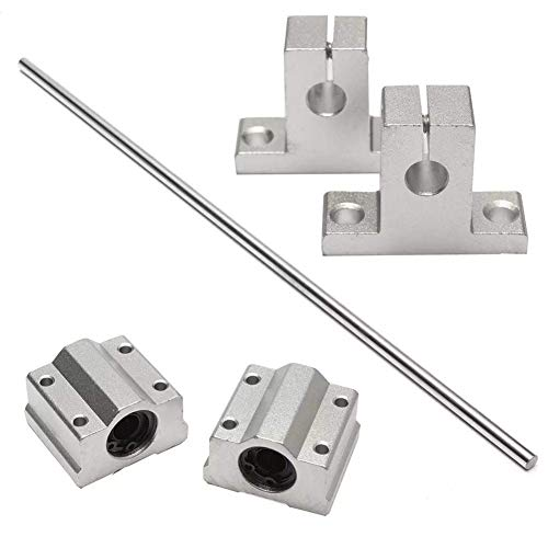 RONGW JKUNYU 2pcs Shaft Supports and 2pcs Linear Bearing Block 8x400mm Linear Rail Shaft Linear Motion Products