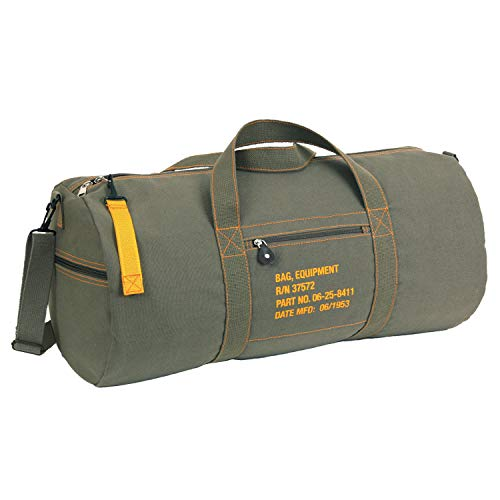 Rothco Canvas Equipment Bag - 24 Inches, Olive Drab
