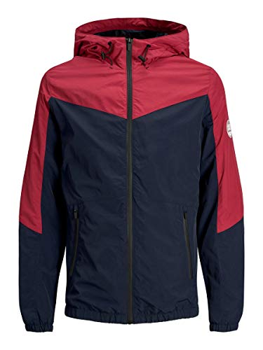 JACK & JONES Herren Leichte Jacke Colourblocking MRio Red