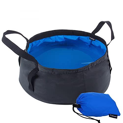 JunJia 8.5L Cubo de Agua Plegable,Lavabo Que Ahorra Espacio Contenedor de Almacenamiento de Agua Plegable Cubo Plegable para Acampar para Viajar Senderismo Pesca -Blue