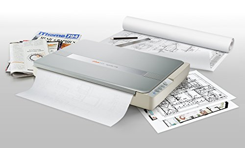Plustek A3 flatbed scanner OS1180, for A3 size Blueprints and Document. Design for libraires school...