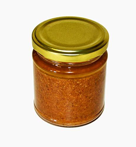 Hymor Amlou Mandelpaste - 1 Glas (1x 200gramm) - Mandelcreme, aus Arganöl, Honig, Mandeln, aus Marokko, Marokkanische Mandelpaste, Atlasküche, Halal, vegan, Fleisch, als Dip, Brotaufstrich (1Glas)