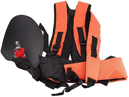 Cortador de cepillo recortador correa de hombro, cinturón de nailon cómodo Cortacésped correa acolchada arnés para recortadores de cepillo de jardín cortador de césped (negro y naranja)