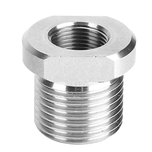 SANON オイルフィルターネジ付きアダプターコネクターステンレス鋼1 / 2?28?3 / 4?16自動エンジン交換部品