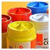 ZYTANG Pinturas acrílicas 12/24 Colores Cepillo Profesional Set 50ML Tubos Artista Dibujo Pintado Pigmento Pintado Pintado Mano Pintura Ropa (Number of Colors : 24 Colors)