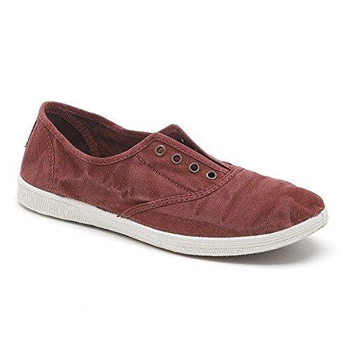 Natural World Damen Sneaker, Rot - burgunderrot - Größe: 39 EU