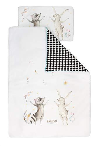 Sango Trade Bettwäsche 2tlg Bettwäsche-Set Kaninchen und Waschbär (135x100)