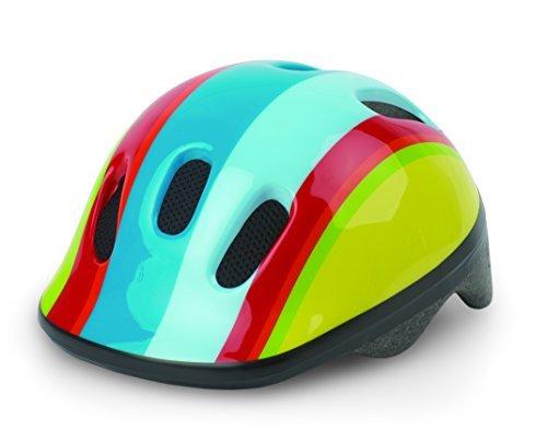 Helm POLISPORT Baby P1 Regenbogen Fahrradhelm Kinderhelme Größe XXS 44-48 cm Blau Rot Gelb by Polisport