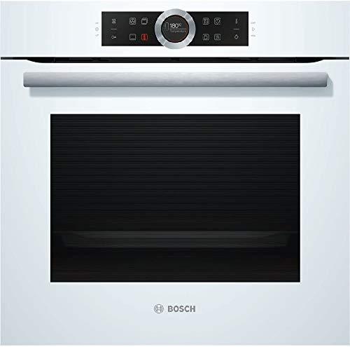 Bosch HBG635BW1 Serie 8 Einbau-Backofen / A+ / 71 L / Weiß / Klapptür / TFT-Display / 13 Beheizungsarten / AutoPilot 10 / EcoClean Direct / 4D Heißluft