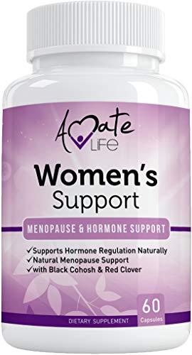 Suplemento de apoyo para mujeres- Regulación de hormonas naturales- Suplemento de apoyo a la menopausia- Suplemento rico en estrógeno- Regulación de hormonas de ingredientes activos- Pastillas para equilibrar hormonas sin OMG por Amate Life