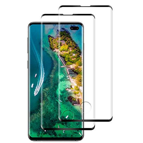SNUNGPHIR Verre Trempé pour Samsung Galaxy S10 Plus, Protection d'écran, [2 pièces] [Dureté 9H] [Ultra Claire] [Anti-Huile] [Anti-Fingerprint] [Facilité d'Installation] Vitre Protecteur