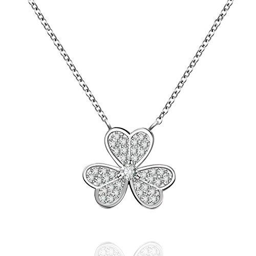 L'AIER Collar Mujer Plata de Ley 925 Elegante Día de San Valentín Festival Regalo