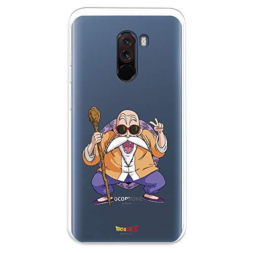 Funda para Xiaomi Pocophone F1 Oficial de Dragon Ball Maestro Mutenroshi para Proteger tu móvil. Carcasa para Xiaomi de Silicona Flexible con Licencia Oficial de Dragon Ball.