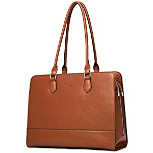 CLUCI Genuine Leather Briefcase for Women 15.6 Inch Laptop Vintage Large Ladies Business Work Shoulder Bags 6