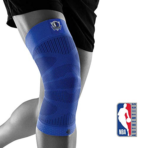 BAUERFEIND Unisex-Adult Sports Compression Knee Support NBA Kniebandage, Dallas Mavericks, L