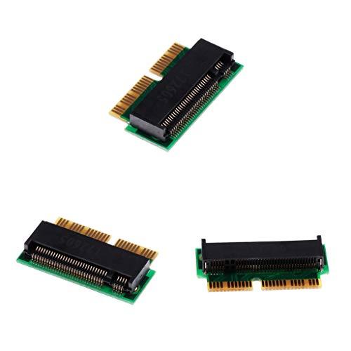 perfk 3 STK. 2 + 16pin zu M.2 NGFF M-Key-SSD-Konverter für MacBook Pro-Retina 2014 2015 MF839 MF844
