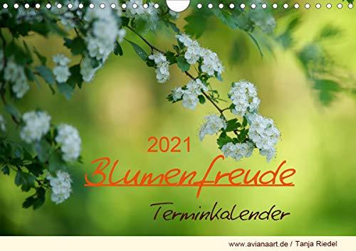 Blumenfreude TerminkalenderAT-Version (Wandkalender 2021 DIN A4 quer)