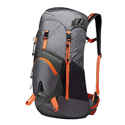 YHDQ Outdoor bergbeklimmer tas, schouders voor mannen en vrouwen, multifunctionele grote capaciteit reizen rugzak, 45-liter fietstas stijlnaam Large Grijs