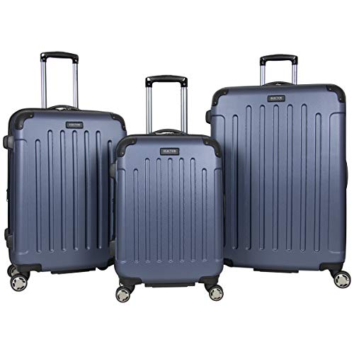 Kenneth Cole Reaction Renegade 3-Piece Lightweight Hardside Expandable 8-Wheel Spinner Travel Luggage Set: 20' Carry-on, 24', 28' Suitcases, Smokey Purple