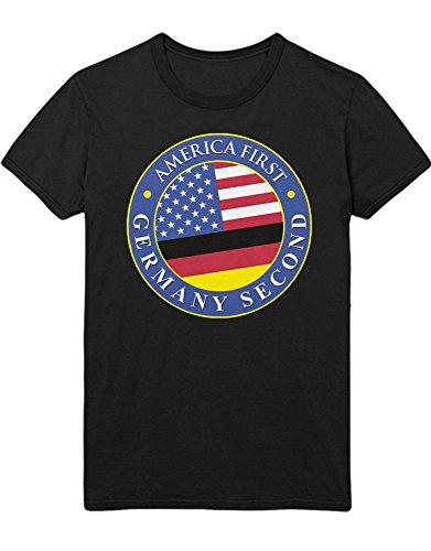 T-Shirt America First Germany Second D348732 Schwarz M