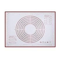 JCCOZ-URG 焼くピザケーキ用シリコンベーキングマットシート、混練生地パッド、まな板、家庭ローリングとフェイスパッド、 JCCOZ-URG (Size : 60*50cm)