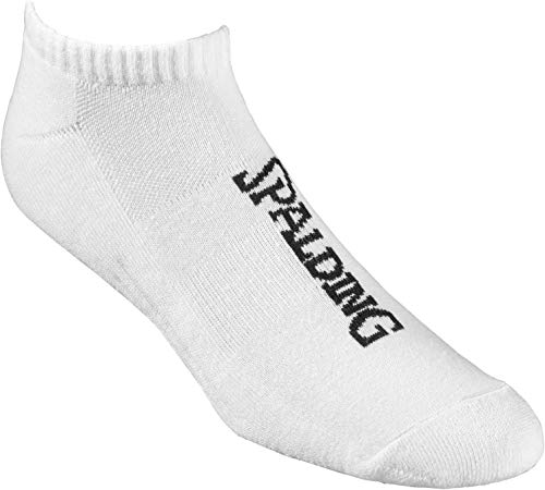 Spalding Low Cut Chaussettes Homme, Blanc, FR : XS (Taille Fabricant : 35-38)