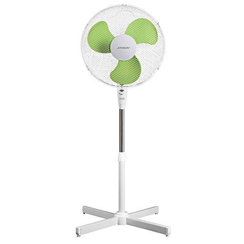 Ventilatore a piantana colonna , diametro 43 cm, altezza variabile 102/130 cm, 3 velocità ,potenza 50 watt, inclinazione variabile .