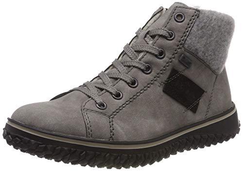 Rieker Damen Z4230 Kurzschaft Stiefel, Grau (Grey/Fog/Schwarz 40), 39 EU