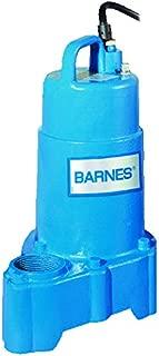 barnes submersible sewage pump