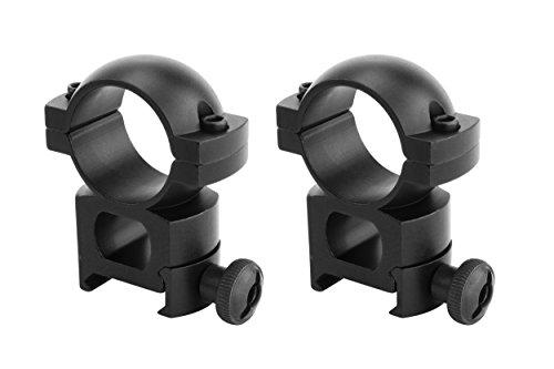 Monstrum Tactical Scope Ring Set for Picatinny/Weaver Rails | 1 inch Diameter | High Profile