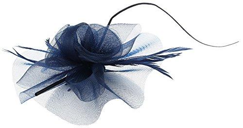 La Vogue Barrette Pince à Cheveux Fleur Voile Clip Femme Fille Serre-Tête Marine