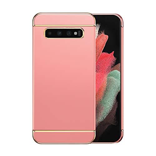 Funda Samsung S10/S10 Plus 5g Case,Fundas Samsung Galaxy S10/S10 Plus Antigolpes Carcasa Diseño Minimalista Estuche Rígido Ultra Original Delgado de PC a Prueba (Samsung S10, Oro Rosa)